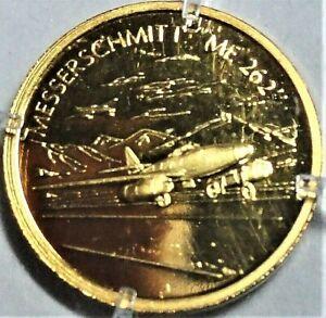 Gold-Medaille 1. Düsenjäger d Welt Messerschmitt ME 262, Bayerisches Münzk. PP