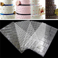 4Pcs Grid Pattern Cake Border Mat Biscuit Cake Decorating Sugarcraft Paste Mold