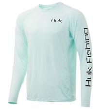 Huk Men's Tuna Jig Pursuit Seafoam Xxx-Large Long Sleeve Shirt