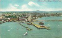 Birdseye Portion San Diego Waterfront C-1910 Postcard Newman 823
