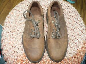 CLARKS MARBURY MENS BROWN OILED LEATHER WINTER SHOES SIZE 9 G NEW 000-2