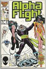 Alpha Flight #37, Vintage Marvel comic book from August 1986