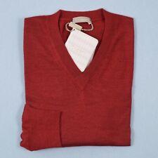 NWT $850 CRUCIANI Burgundy Lightweight Cashmere-Silk Sweater Slim S (Eu 48)