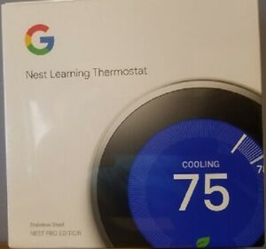 Nest Google Programmable Thermostat T3008US - Stainless Steel