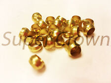 Ф4mm Hole Diameter Brass Olive Barrel Compression Sleeve Ferrule Ring 24pcs