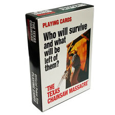 Texas Chainsaw Massacre  Standard Poker Bridge Deck Playing Cards Aquarius