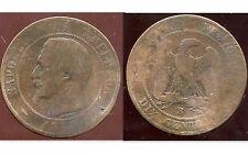 FRANCE  FRANCIA   10 centimes NAPOLEON III   1853 B   (2)