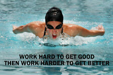 SWIMMING INSPIRATIONAL / MOTIVATIONAL  POSTER FANTASTIC