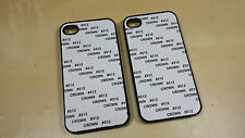 100 cases iPhone 4/4S 5/5S Cases Blank Sublimation Black or White