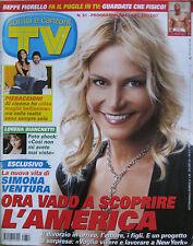 SORRISI 51 2007 Simona Ventura Spice Girls Tokio Hotel Penelope Cruz Johnny Depp