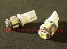 COPPIA LAMPADE LAMPADINE POSIZIONE W5W T10 5 LED 5050 SMD 6000K