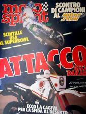 Motosprint 49 1985 Attacco alla Dakar. La Cagiva che sfida il deserto. [Q76]