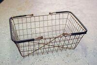Vintage Rusty Metal Shopping Basket Vintage basket decor industrial decor