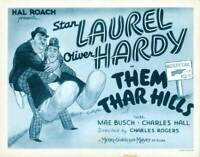 OLD MOVIE PHOTO Them Thar Hills Us Lobby Card Oliver Hardy Stan Laurel 1934