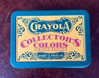 1991 CRAYOLA COLLECTOR'S COLORS LIMITED EDITION BINNEY & SMITH *EMPTY AD TIN CAN