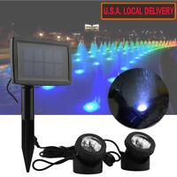 6/12/18LED Underwater Solar Power Spot Light Outdoor Garden Lawn Lamp Waterproof
