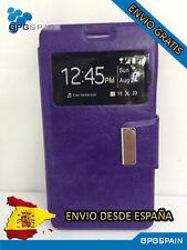 Funda Carcasa Libro Iman ZTE Blade A570 Morada ENVIO GRATIS
