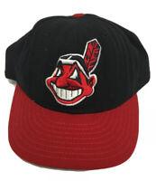 Vintage 90s Cleveland Indians MLB Baseball Hat New Era Size 7 1/2