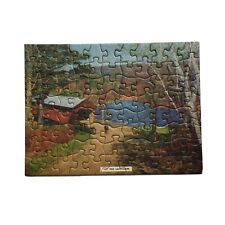 1930's Puzzle 88 Pieces 5x7 The Old Landmark THICK USA