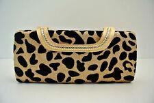NEW shining diamante Leopard Clutch Chain Handbag Party Bag Purse evening