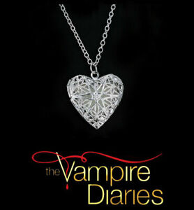 The Vampire Diaries Caroline Forbes Open Heart Star Silver Necklace & Pendant