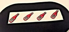 "Heinz Ketchup Iron On Logo Embroidered 1 1/2"" Shirt Patches Set of 4 Free Ship!"