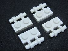 LEGO 2540 @@ Plate, Modified Handle on Side - White x 4 - 6286 7659 7754 10198