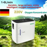 1-6L/M Tragbare Oxygen Konzentrator Sauerstoffkonzentrator 90% Sauerstoffgerät