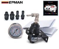 BLACK Adjustable Fuel Pressure Regulator TYPE S *WRX RB25 SILVIA FPR Turbo Reg*