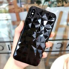 3D Diamond Bling Crystal Soft Rubber Clear Case Cover For iPhone X 8 6s 7 Plus