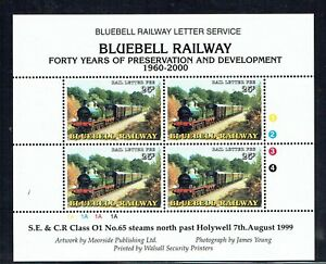 Bluebell Railway 2000 40 years of Preservation stamp in sheet unmounted mint