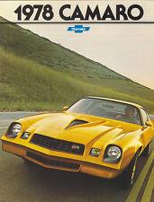 1978 Chevy Camaro Brochure Z 28/Rally Sport/Type LT