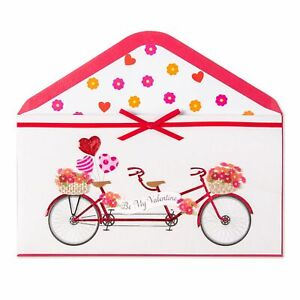 PAPYRUS Love Tandem Bicycle built for Two Valentine's Day Card  Retails $7.95