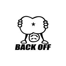 Back Off Butt JDM Drift For Japanese Car Vinyl Decal Sticker