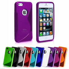 Gel Funda S Line Cover Skin De Silicona Para Iphone 4 4g 4s 4gs + Protector De Pantalla Gratis