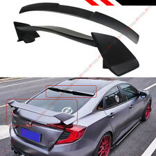 FOR 2016-2020 HONDA CIVIC 4DR TYPE-R STYLE TRUNK WING + REAR WINDOW ROOF SPOILER