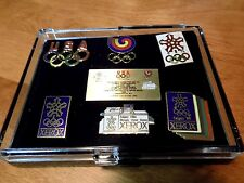 1988 Olympics Commemorative Pins XEROX Collector Pin Set Seoul Calgary Olympic