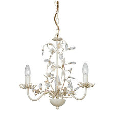 Endon Lullaby chandelier 3x 60W Cream brushed gold clear pearl effect acrylic