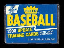 1990 FLEER UPDATE BASEBALL 10TH ANNIVERSARY EDITION FACTORY SEALED CARD SET