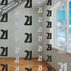21st BIRTHDAY PARTY SUPPLIES PK 6 GLITZ BLACK AND SILVER HANGING DECORATIONS