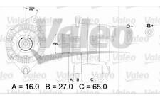 VALEO Alternador CITROEN ZX BX EVASION PEUGEOT 206 306 406 FIAT ULYSSE 436345