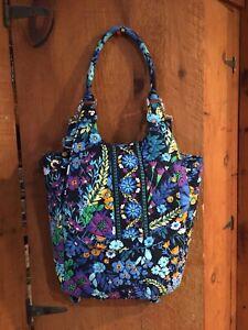 Vera Bradley Blue Floral Backpack Tote