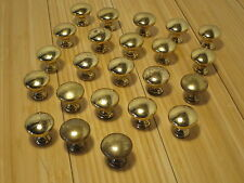 "23 1.25"" Diameter Solid Brass Round Drawer Door Pulls Knobs Patina Finish"
