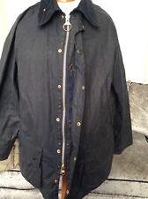 Mens Blue Vintage Barbour Beaufort Wax Jacket C44  Large / XL : J745