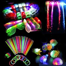 60PCS LED Light Up Glow Party Favors Wedding Toys Flashing Ring Rave Glasses New