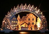 3D-Räucher-Schwibbogen Weihnachtsbäckerei Erzgebirge Lichterbogen Weihnachten