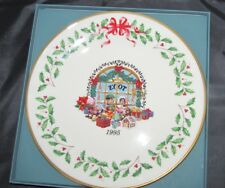 New Lenox Holiday Christmas 1995 Toy Store 5th Collector's China Plate w/ Coi