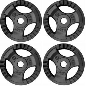 4x 2.5kg Cast Iron Tri-Grip Weight Plates Set - Barbell Dumbbell Lifting Workout