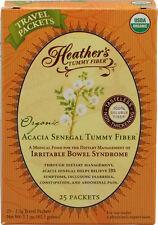 Acacia orgánica Senegal Barriga Fibra, 25 paquetes, 2.5 G cada uno, Heather's Barriga Cuidado