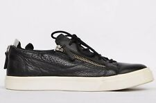 GIUSEPPE ZANOTTI  ZIP LEATHER SNEAKERS SHOES SIZE 41 US 8